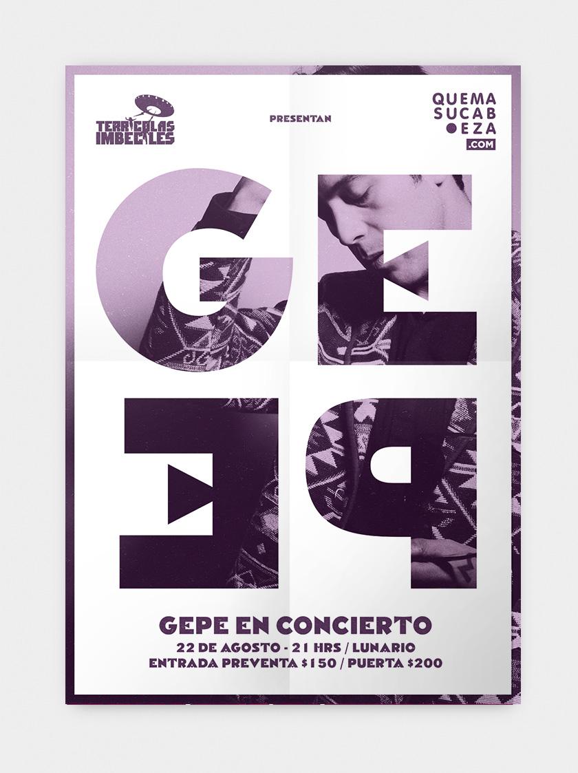 Afiche para Gepe en Mexico